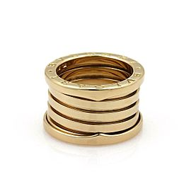 Bvlgari Bulgari B Zero-1 18k Yellow Gold 13mm Wide Band Ring Size 51-US 5.5