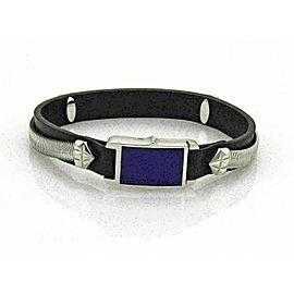 Stephen Webster Alchemy in the UK Sterling silver & Lapis Clasp Leather Bracelet