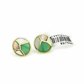 Ippolita Rock Candy Onyx & MOP 18k Yellow Gold Round Stud Earrings