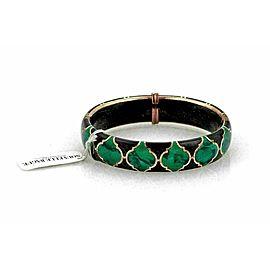 Nouvelle Bague Diamond Green Black Enamel 18k Gold/Sterling Bracelet