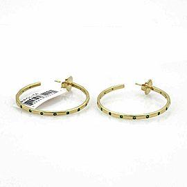 Ippolita Glamazon Stardust Tsavorite 18k Gold Hoop Earrings