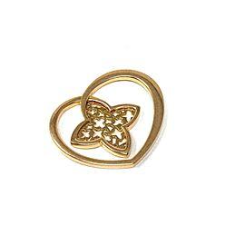 Louis Vuitton Monogram Floral Heart 18k Pink Gold Pendant