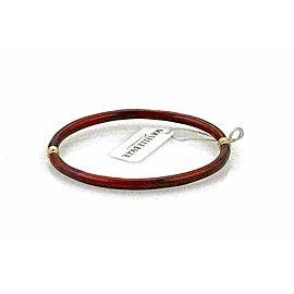 Nouvelle Bague Diamond Red White Enamel 18k Gold/Sterling Bracelet