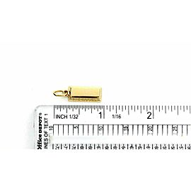 Cartier 1/4oz Ingot 18k Yellow Gold Bar Charm Pendant
