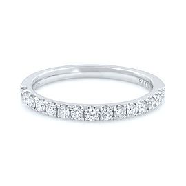 Rachel Koen Scoop Pave Diamond Wedding Band 18K White Gold 0.28cttw