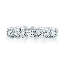 Rachel Koen Platinum Round Cut Diamond Eternity Band 4 cttw