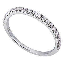 18K White Gold 0.22cts Genuine Diamond Pave Ladies Ring Size 6.5