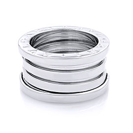 Bvlgari B.Zero 1 18K White Gold Ring Size 4.25