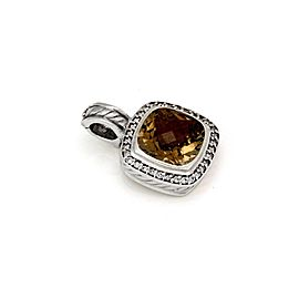 David Yurman Albion Diamond Citrine Sterling Silver Cable Pendant