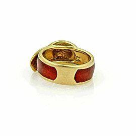 Vintage Cartier Enamel 18k Yellow Gold Belt & Buckle Band Ring