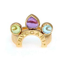 Bvlgari Bulgari Allegra 1.75ct Multicolor Gems 18k Gold Slide Ring Size 6.5