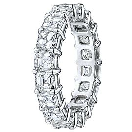 Rachel Koen Platinum Asscher Cut Diamond Eternity Band 8.13cts