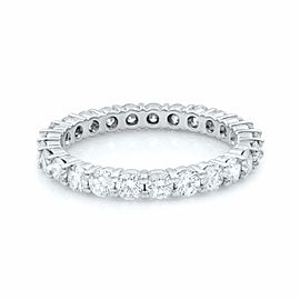 Rachel Koen 14K White Gold Diamond Round Cut Eternity Band 1.65cts Size 7