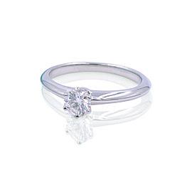 Tiffany Co. Platinum Solitaire Diamond Engagement Ladies Ring 0.22 Cttw Size 5