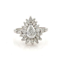 Estate 2.10ct Diamond & Platinum Cocktail Solitaire Ring Size 8.5