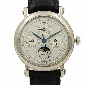 Franck Muller Classic 18k White Gold Perpetual Calendar Automatic Watch 2800 QPR