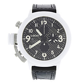 U-Boat Flightdeck 50 White Ceramic Carbon Fiber Dial Automatic Mens Watch 7095