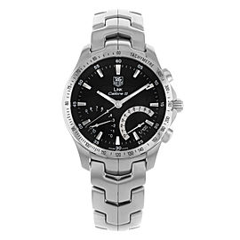 TAG Heuer Link Calibre S Black Dial Steel Quartz Mens Watch CJF7110.BA0592
