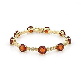 H.Stern 18.54ct Citrine Diamond Fancy Link Bracelet