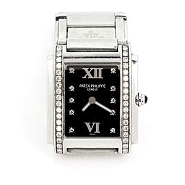 Patek Philippe Twenty-4 Diamond Rectangular Ladies Quartz Watch