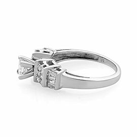 Rachel Koen 14K White Gold Princess Cut Diamond Engagement Ring 0.40cts Size 7