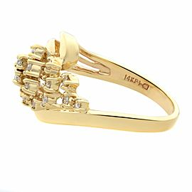 Rachel Koen 14K Yellow Gold 0.25cttw Diamond Cocktail Ring Size 4.75