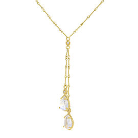 Cassis 18K Yellow Gold with Diamonds and Moonstones Necklace