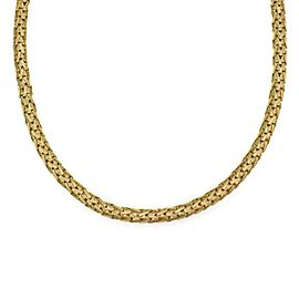 Roberto Coin 18k Yellow Gold 6mm Silk Weave Flex Style Necklace