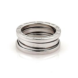 Bvlgari Bulgari B Zero-1 18k White Gold 7mm Band Ring Size 50-US 5