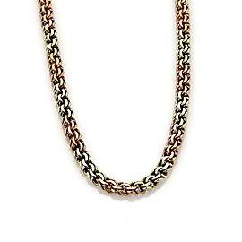 Tiffany & Co. Vintage 14k Pink & Green Gold Double Curb Chain Link Necklace