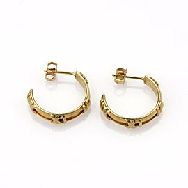 Tiffany & Co. ATLAS 18k Yellow Gold Roman Numeral Mid Size Hoop Earrings