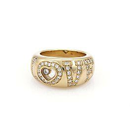 Chopard Happy Diamond 18k Yellow Gold Diamond LOVE Dome Band Ring Sz 6.5