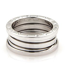 Bvlgari Bulgari B Zero-1 18k White Gold 9mm Band Ring Size 54-US 6.75