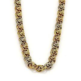 Spritzer & Fuhrman18k Tri-Color Gold Fancy Double Interlaced Chain Link Necklace