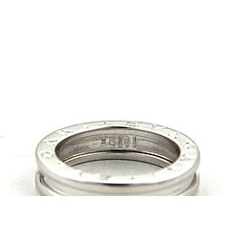 Bvlgari Bulgari B Zero-1 18k White Gold 5mm Single Band Ring Size EU 51 US 5.5