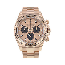 Rolex Cosmograph Daytona 18K Rose Gold Pink Dial Automatic Mens Watch 116505