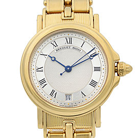 Breguet Marine 18K Yellow Gold Silver Dial Automatic Mens Watch 5800BA/12/A90