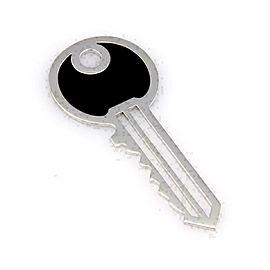 Victoria Casal Onyx 18k White Gold Key Pendant