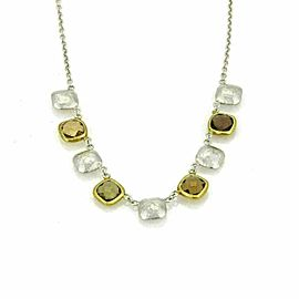 Gurhan Smokey Quartz Sterling & 24k Gold Necklace