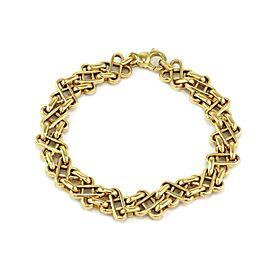 Tiffany & Co. 18k Yellow Gold Fancy X Link Bracelet