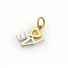 Tiffany & Co. Diamond Love 18k White & Rose Gold Charm