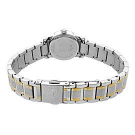 Bulova Highbridge Two-Tone Stainless Steel White Dial Quartz Ladies Watch 98R155
