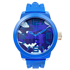 Kenneth Cole Reaction Silicone Blue band Mens Quartz watch RK1296