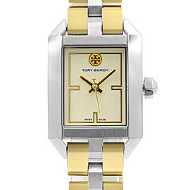 Tory Burch Dalloway Two Tone Steel Cream Dial Quartz Ladies Watch TB1102