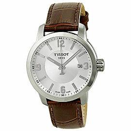Tissot PRC 200 Stainless Steel Silver Dial Quartz Mens Watch T055.410.16.037.00