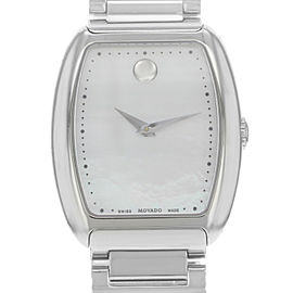 Movado Concerto White Mother Pearl Dial Steel Quartz Ladies Watch 0606547