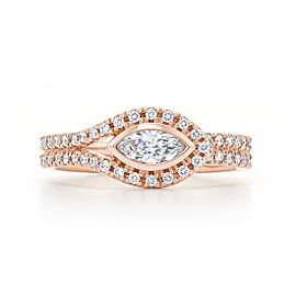 Kwiat 18k Rose Gold Fancy Ring From The Silhouette Collection Size 6.5
