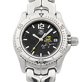 Tag Heuer Senna 27mm Stainless Steel Black Dial Quartz Ladies Watch WT141N
