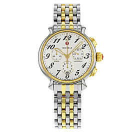 Michele Fluette White Dial Two Tone Steel 0.36cttw Ladies Watch MWW24A000007