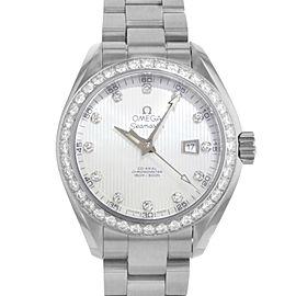 Omega Seamaster Aqua Terra MOP Diamond 1.75cttw Steel Watch 231.15.34.20.55.001